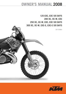 KTM Manual 2008