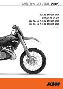 KTM Manual 2009