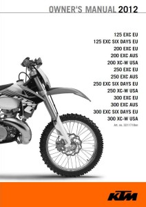 KTM Manual 2012