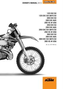 KTM Manual 2013