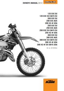 KTM Manual 2014