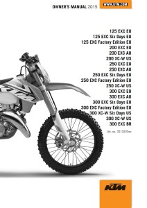 owner s manual 2015 125 exc eu 125 exc six days eu 125 exc factory rh madeinenduro com