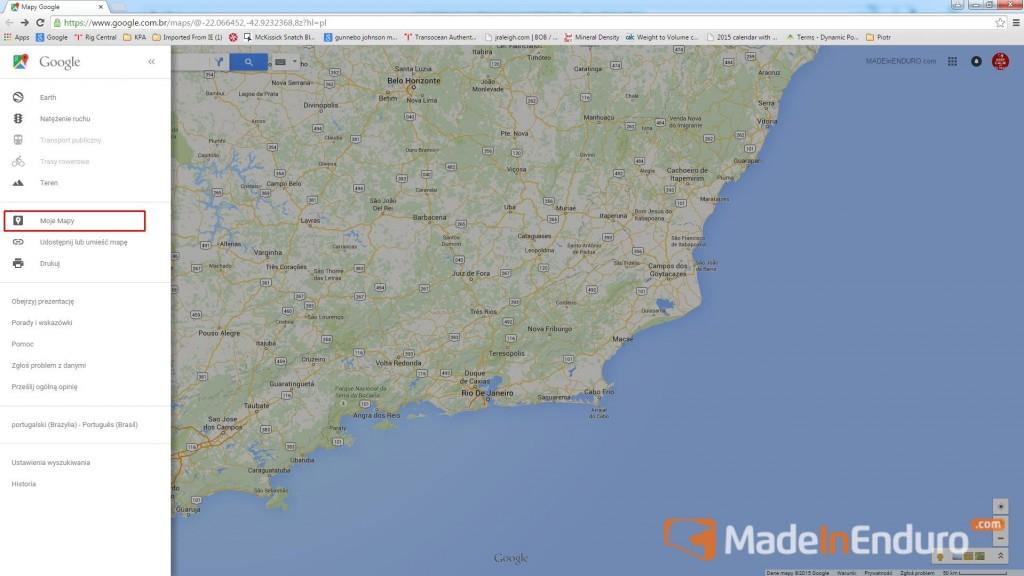 zakladka moje mapy
