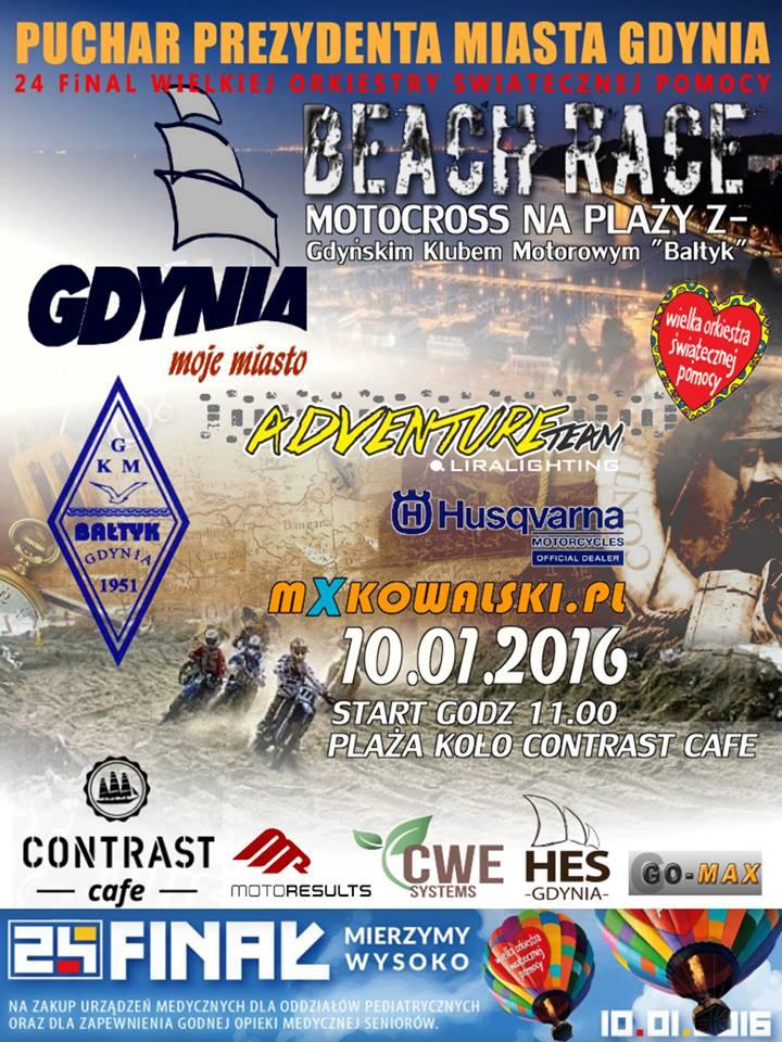 poster beach race gdynia 2016